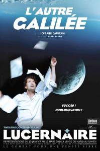 """Affiche du spectacle """"L'autre Galilée"""" de Cesare Capitani"""