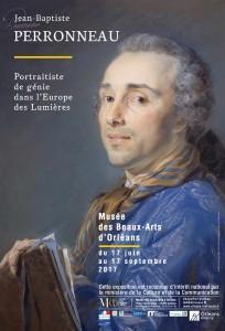 Affiche de l'exposition d'après le portrait d'Aignan-Thomas Desfriches par Perronneau, © Musée des Beaux-Arts d'Orléans.