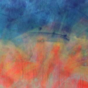 """""""5pm"""", Renk, 2015, Aérosol sur toile,1,50 x 1,50 cm."""